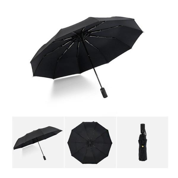 蔵出し限定特価 短納期 自動開閉 折りたたみ傘 メンズ 十本骨 折りたたみ傘 晴雨兼用 日傘 完全遮光 折りたたみ uvカット 遮光|bonito|07