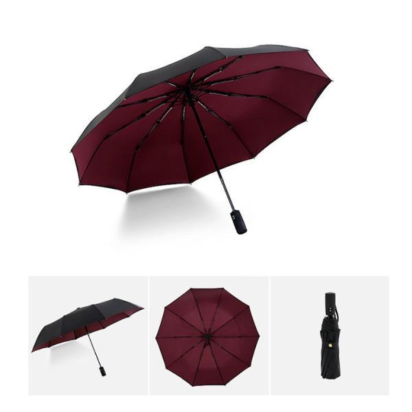 蔵出し限定特価 短納期 自動開閉 折りたたみ傘 メンズ 十本骨 折りたたみ傘 晴雨兼用 日傘 完全遮光 折りたたみ uvカット 遮光|bonito|08