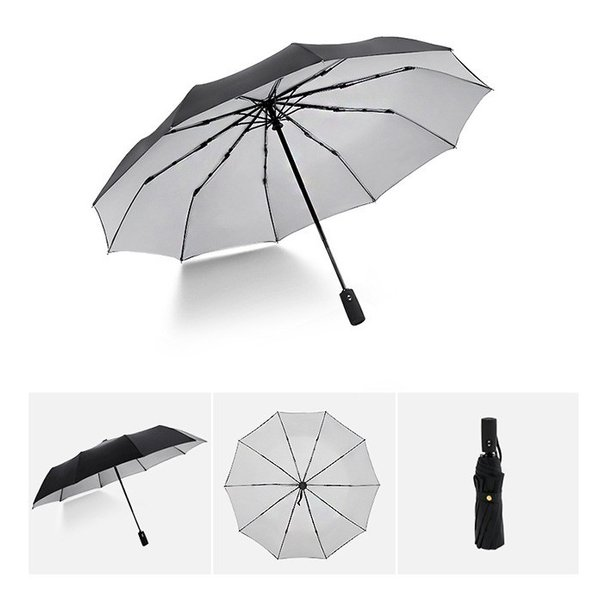 蔵出し限定特価 短納期 自動開閉 折りたたみ傘 メンズ 十本骨 折りたたみ傘 晴雨兼用 日傘 完全遮光 折りたたみ uvカット 遮光|bonito|10