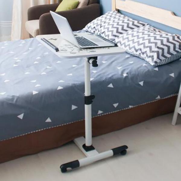 年末セール 折りたたみテーブル サイドテーブル 軽い 安い 小さい 高さ調整 角度調節 パソコン ベッド デスク 昇降 ホワイト|bonito|11