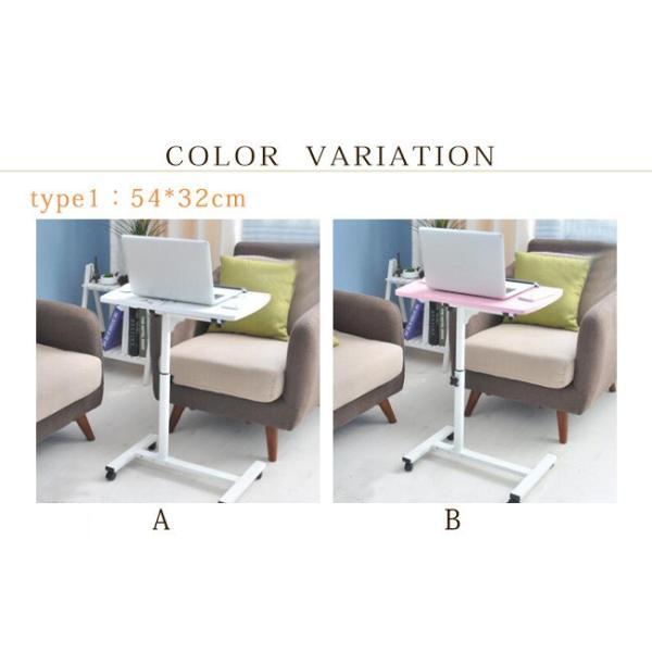 年末セール 折りたたみテーブル サイドテーブル 軽い 安い 小さい 高さ調整 角度調節 パソコン ベッド デスク 昇降 ホワイト|bonito|06