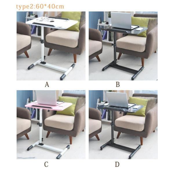 年末セール 折りたたみテーブル サイドテーブル 軽い 安い 小さい 高さ調整 角度調節 パソコン ベッド デスク 昇降 ホワイト|bonito|07