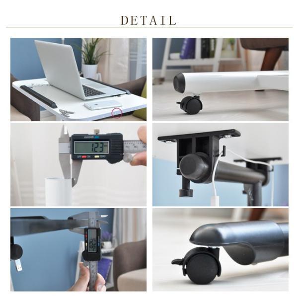 年末セール 折りたたみテーブル サイドテーブル 軽い 安い 小さい 高さ調整 角度調節 パソコン ベッド デスク 昇降 ホワイト|bonito|09