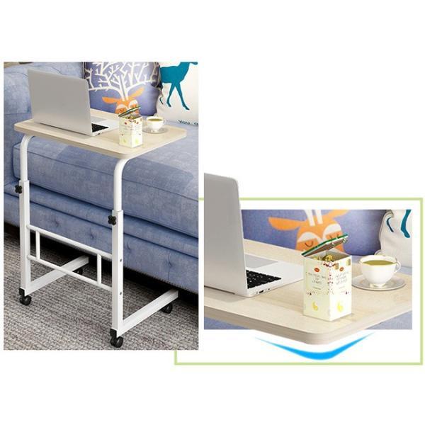 折りたたみテーブル サイドテーブル 軽い 安い 小さい 高さ調整 角度調節 パソコン ベッド デスク 昇降 ホワイト 作業台 介護用品 ミニ コンビニエンステーブル|bonito|08