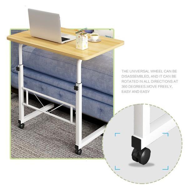 折りたたみテーブル サイドテーブル 軽い 安い 小さい 高さ調整 角度調節 パソコン ベッド デスク 昇降 ホワイト 作業台 介護用品 ミニ コンビニエンステーブル|bonito|09