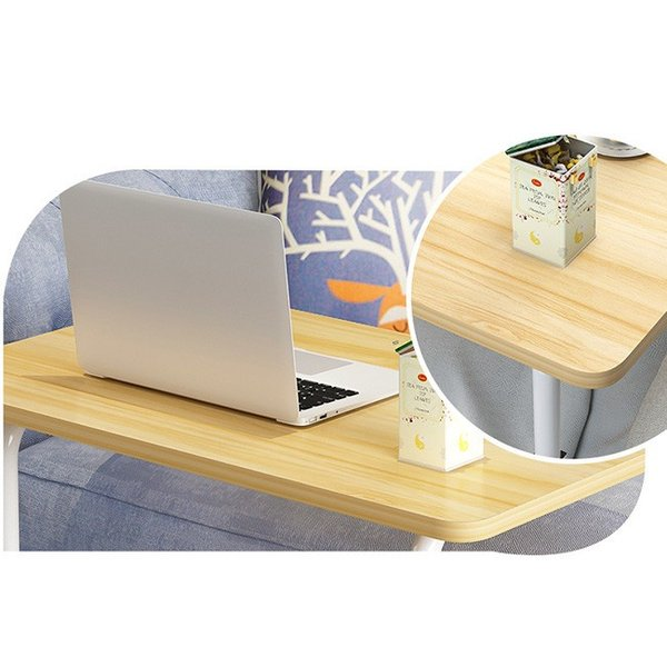 折りたたみテーブル サイドテーブル 軽い 安い 小さい 高さ調整 角度調節 パソコン ベッド デスク 昇降 ホワイト 作業台 介護用品 ミニ コンビニエンステーブル|bonito|10