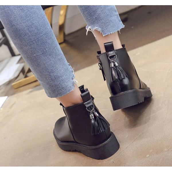 靴 ブーティー ブーツ ショートブーツ レディース シューズ サイドゴア 黒 ブラック  ラウンドトゥ ローヒール 歩きやすい