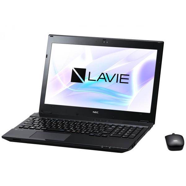 NEC PC-NS350HAB ノートパソコン LAVIE Note Standard クリスタルブラック [15.6型 /intel Core i3 /HDD:1TB /メモリ:4GB /2017年7月モデル]の画像