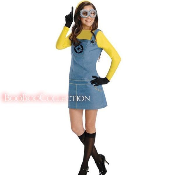 ハロウィン ミニオンズ コスプレ衣装 アニメ キャラクター 大人 レディース 仮装 衣装  可愛い ハロウィン衣装 HR0022|boo-colle