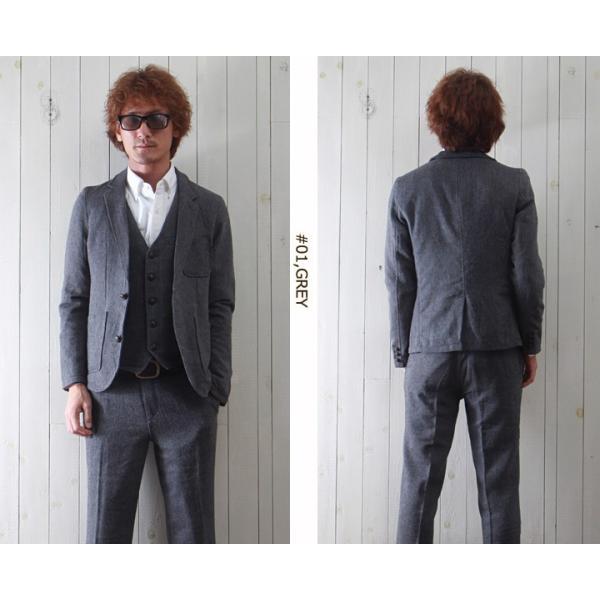 ジャケット ヘリンボーンツイード テーラードジャケット 【3ピース用】 メンズ アメカジ 送料無料|boogiestyle|02