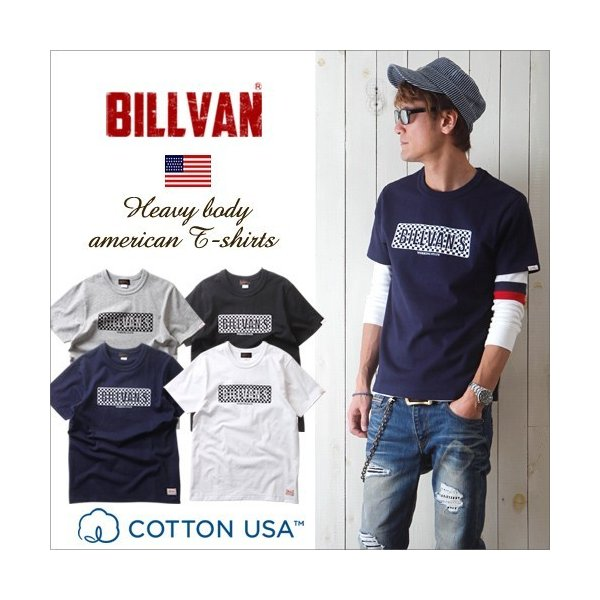 Tシャツ BILLVANアメリカンスタンダード チェッカーフラッグ プリントTシャツ 28132 メンズ アメカジ|boogiestyle