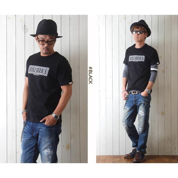 Tシャツ BILLVANアメリカンスタンダード チェッカーフラッグ プリントTシャツ 28132 メンズ アメカジ|boogiestyle|02