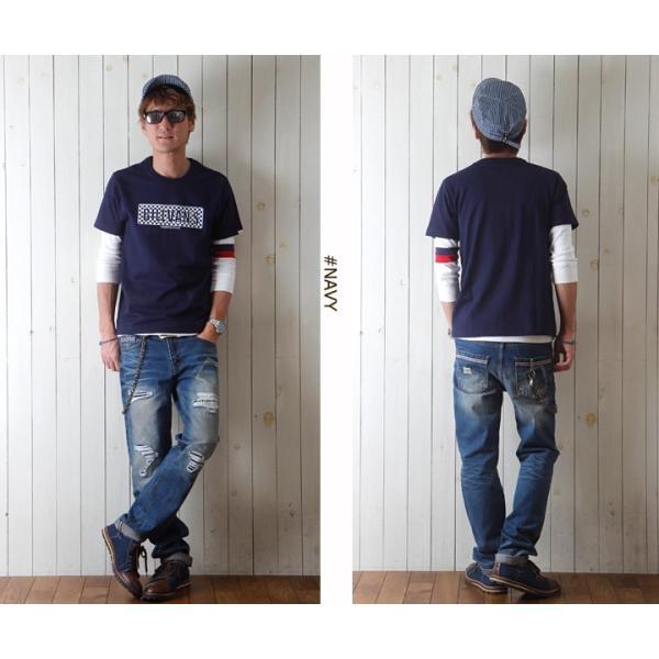 Tシャツ BILLVANアメリカンスタンダード チェッカーフラッグ プリントTシャツ 28132 メンズ アメカジ|boogiestyle|04