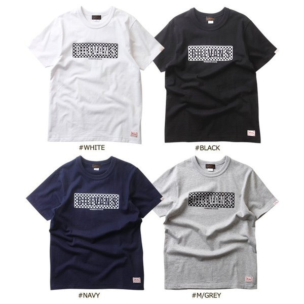 Tシャツ BILLVANアメリカンスタンダード チェッカーフラッグ プリントTシャツ 28132 メンズ アメカジ|boogiestyle|05