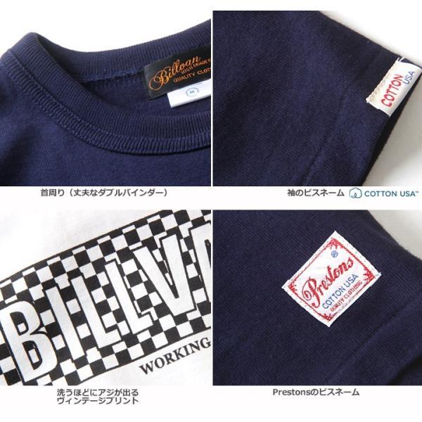 Tシャツ BILLVANアメリカンスタンダード チェッカーフラッグ プリントTシャツ 28132 メンズ アメカジ|boogiestyle|06