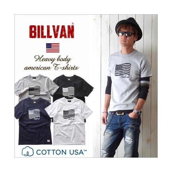 Tシャツ BILLVANアメリカンスタンダード パトリオットフラッグ プリントTシャツ 28133 メンズ アメカジ|boogiestyle