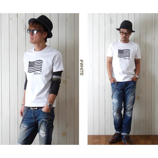 Tシャツ BILLVANアメリカンスタンダード パトリオットフラッグ プリントTシャツ 28133 メンズ アメカジ|boogiestyle|02