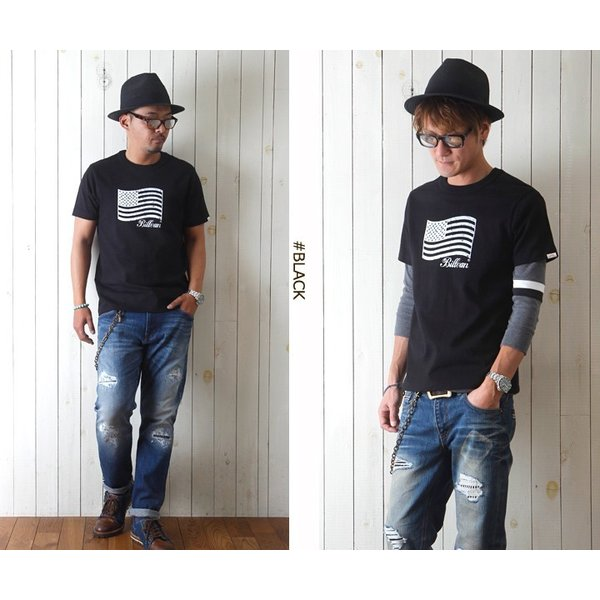 Tシャツ BILLVANアメリカンスタンダード パトリオットフラッグ プリントTシャツ 28133 メンズ アメカジ|boogiestyle|03