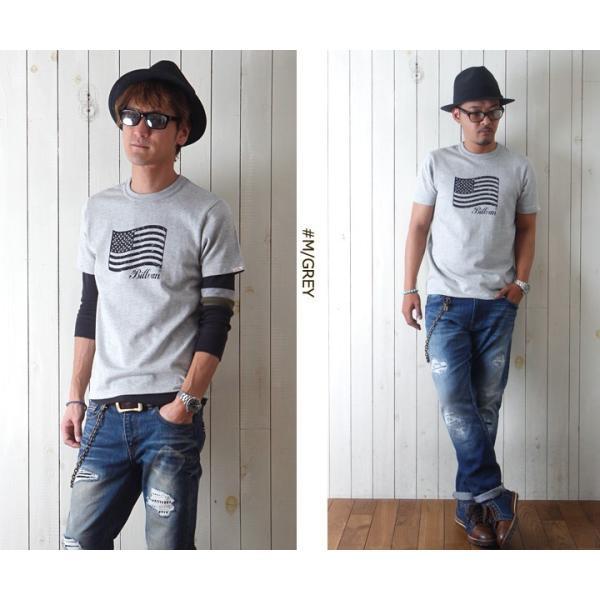 Tシャツ BILLVANアメリカンスタンダード パトリオットフラッグ プリントTシャツ 28133 メンズ アメカジ|boogiestyle|04