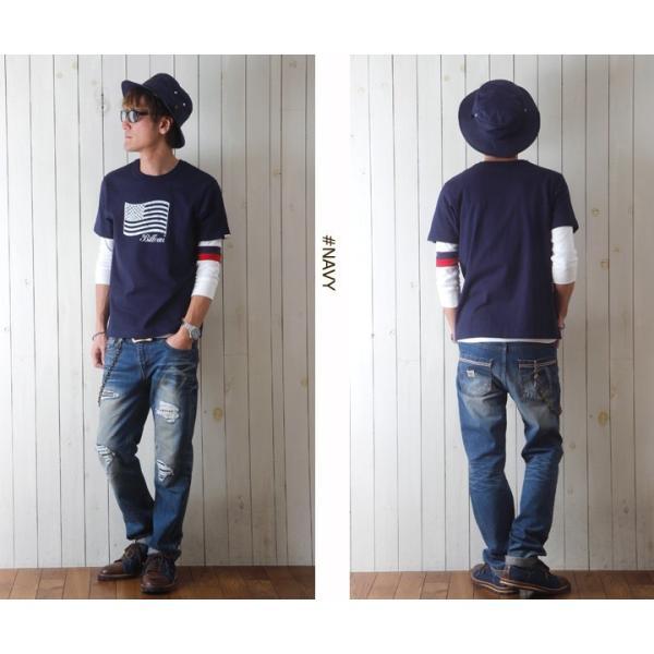 Tシャツ BILLVANアメリカンスタンダード パトリオットフラッグ プリントTシャツ 28133 メンズ アメカジ|boogiestyle|05