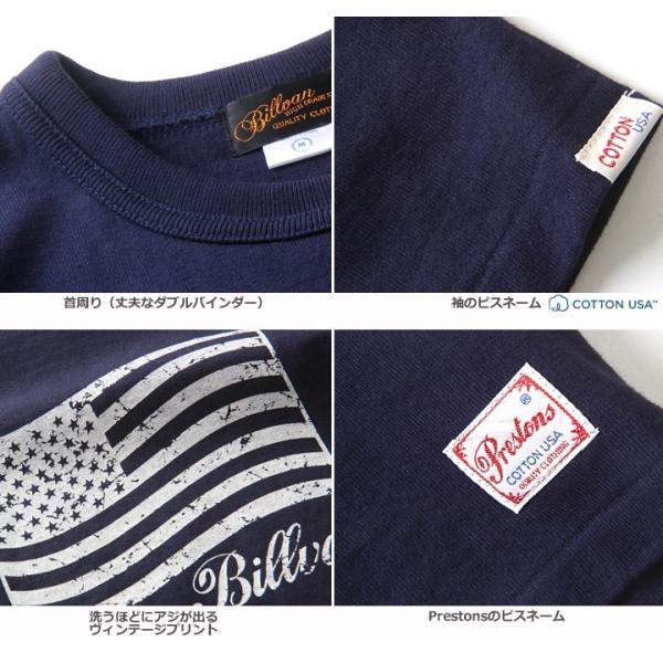 Tシャツ BILLVANアメリカンスタンダード パトリオットフラッグ プリントTシャツ 28133 メンズ アメカジ|boogiestyle|06