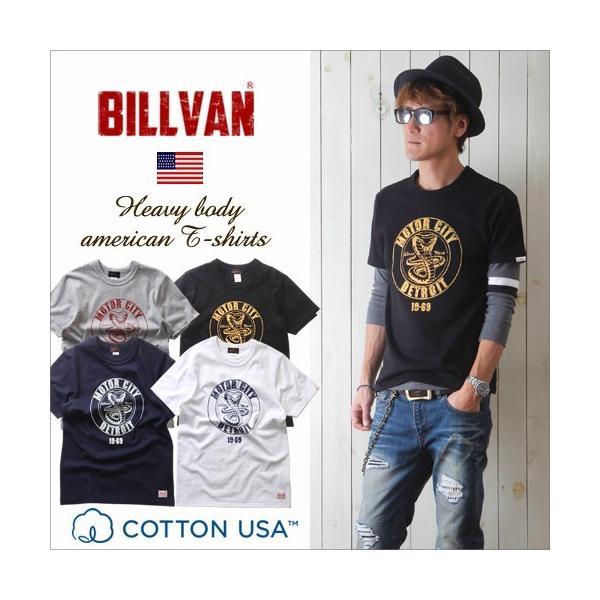 Tシャツ BILLVANアメリカンスタンダード DETROIT プリントTシャツ 28134 メンズ アメカジ boogiestyle