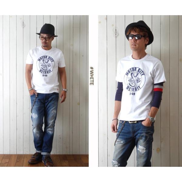 Tシャツ BILLVANアメリカンスタンダード DETROIT プリントTシャツ 28134 メンズ アメカジ boogiestyle 02