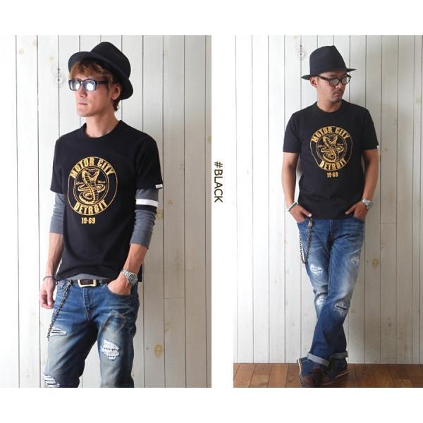 Tシャツ BILLVANアメリカンスタンダード DETROIT プリントTシャツ 28134 メンズ アメカジ boogiestyle 03