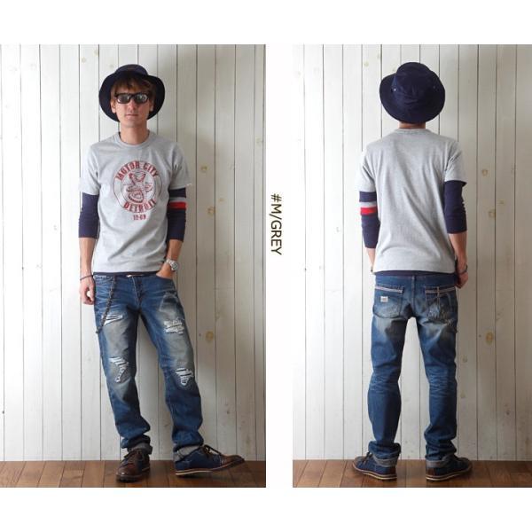 Tシャツ BILLVANアメリカンスタンダード DETROIT プリントTシャツ 28134 メンズ アメカジ boogiestyle 05