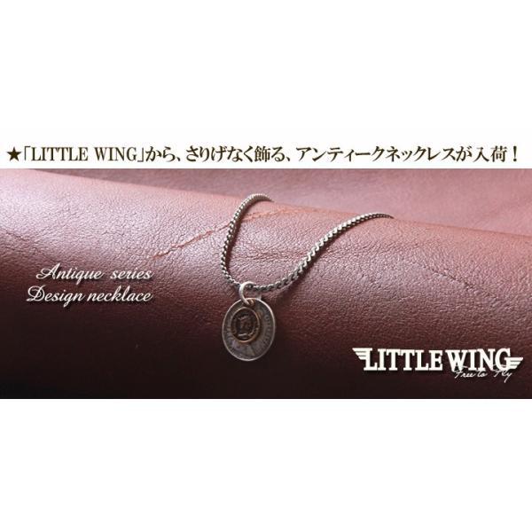 LITTLE WING コインチャーム・コンビカラー アンティークネックレス LW068 メンズ アメカジ|boogiestyle|02