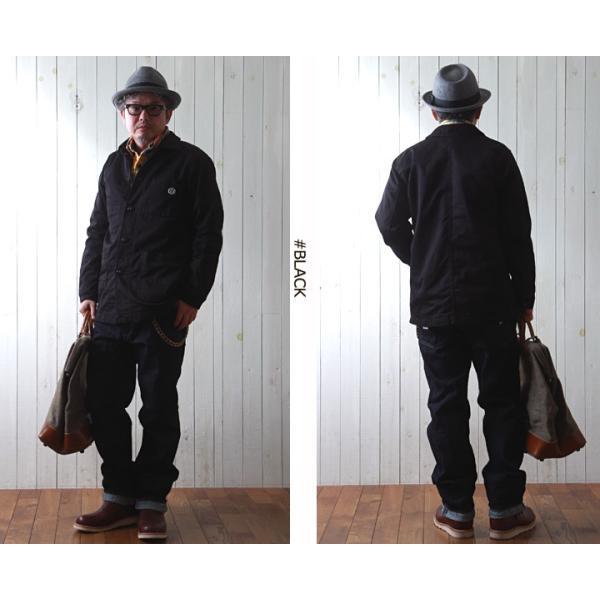 ジャケット STRONG HOLD 高密度 三子サテン生地 レイルロードジャケット ストロングホールド ワークジャケット|boogiestyle|02