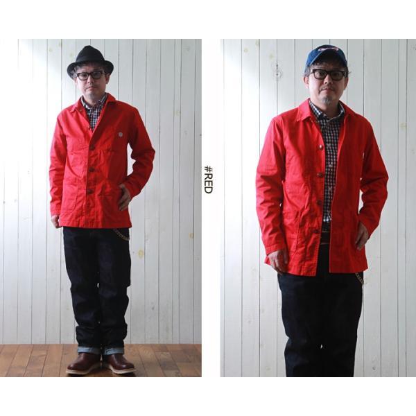 ジャケット STRONG HOLD 高密度 三子サテン生地 レイルロードジャケット ストロングホールド ワークジャケット|boogiestyle|03