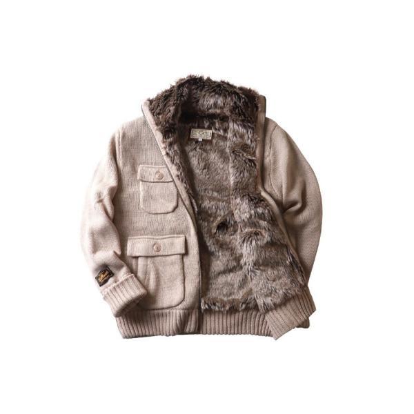 ジャケット BILLVAN 裏ボア Mー65タイプ ウールニット カウチンセーター ビルバン メンズ アメカジ|boogiestyle|12