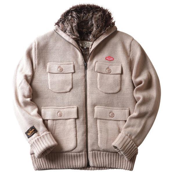 ジャケット BILLVAN 裏ボア Mー65タイプ ウールニット カウチンセーター ビルバン メンズ アメカジ|boogiestyle|15