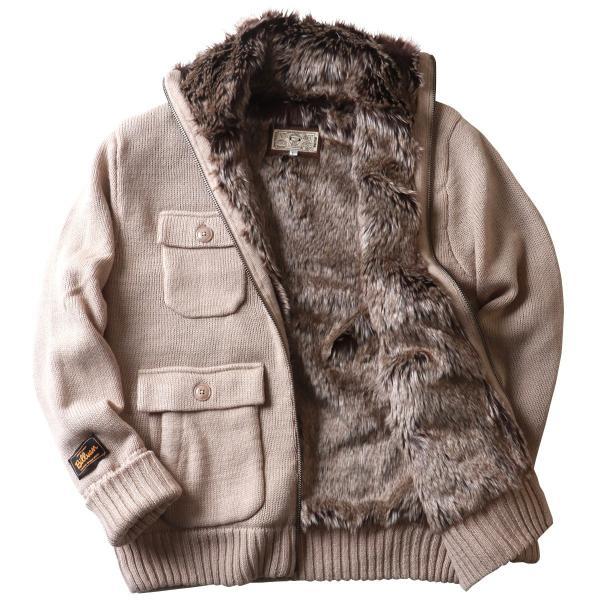 ジャケット BILLVAN 裏ボア Mー65タイプ ウールニット カウチンセーター ビルバン メンズ アメカジ|boogiestyle|17