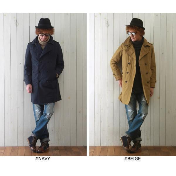 M&S 中綿ライナーベスト付き グログラン・クロス トレンチコート メンズ アメカジ 送料無料|boogiestyle|02