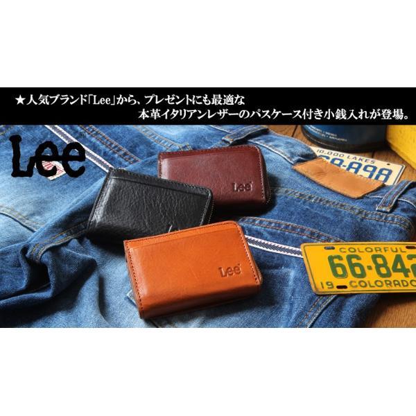 Lee リー イタリアン・レザーL字ファスナー カード&コインケース コンパクト 小銭入れ メンズ アメカジ|boogiestyle|02