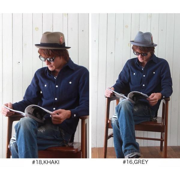 ウール中折れフェザー・チロリアン風ハット サイズ調整付き メンズ アメカジ|boogiestyle|03