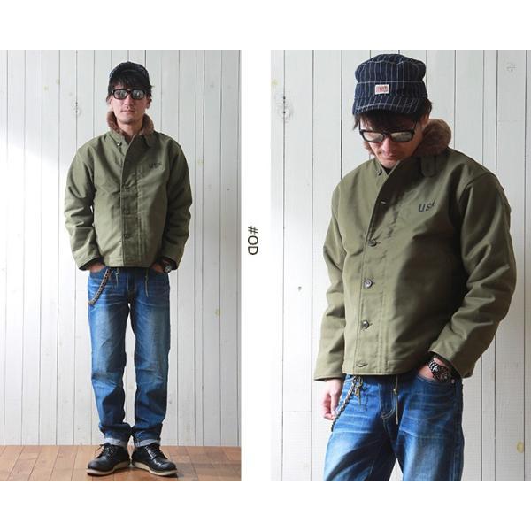 HOUSTON 日本製ヘビーコットン Nー1 デッキジャケット 裏総ボア メンズ アメカジ 送料無料|boogiestyle|05