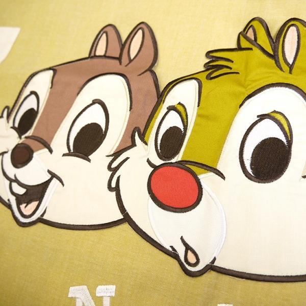 チップ&デール キャラクターエプロン 保育士 かわいい 大人サイズ 大きな刺繍 刺繍ワッペン チュニックエプロン Disney 保育園 幼稚園 ラン型エプロン|boogiewoogie-store|03