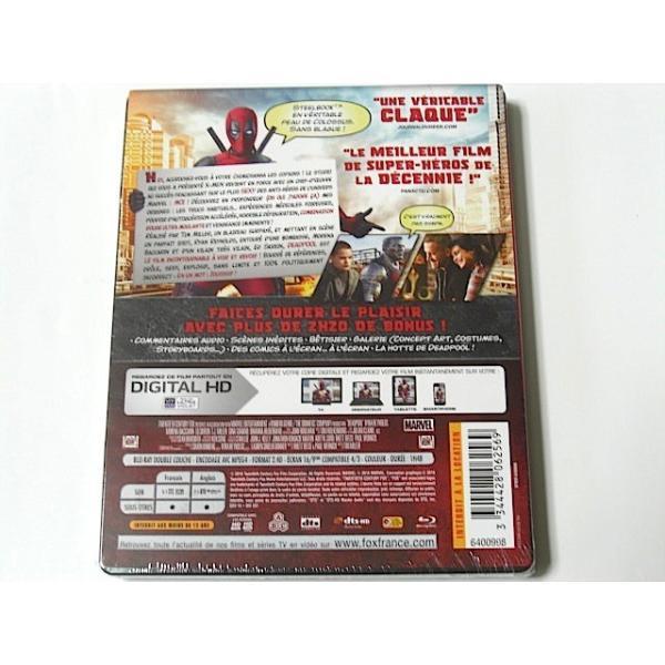デッドプール ブルーレイ スチールブック限定盤 輸入盤 日本語字幕・吹替あり|bookschirol|02