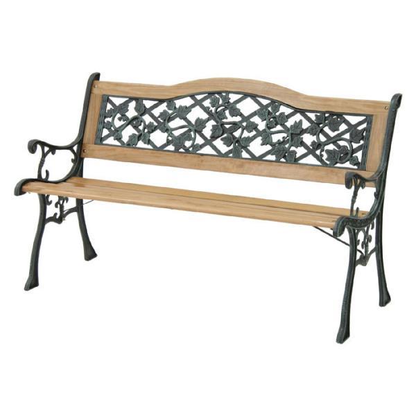 天然木製ガーデンベンチ 幅126cm タイプA おしゃれ 安い