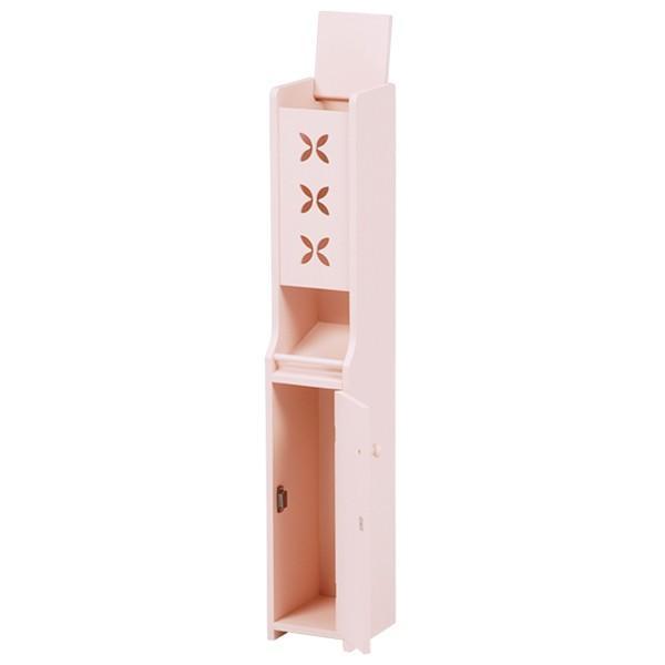 トイレコーナーラック 幅16cm高さ93cm ピンク MTR-4008PI hg-mt4008pi おしゃれ 安い|bookshelf|02