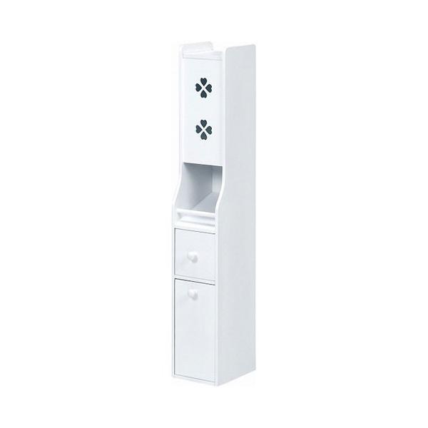 サニタリー付きトイレコーナーラック 幅16cm高さ93cm ホワイト MTR-7006WH hg-mt7006wh おしゃれ 安い|bookshelf