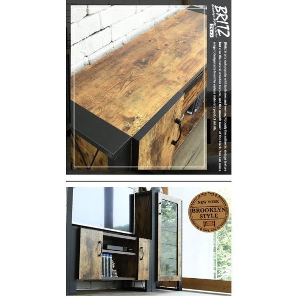 ブルックリンスタイル テレビボード 40型 幅90cm 木製 ヴィンテージ風 fbr-0001|bookshelf|15