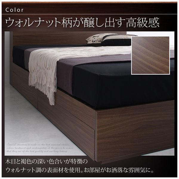 棚・コンセント付き収納ベッド General ジェネラル スタンダードボンネルコイルマットレス付き シングル ベッド ベット シングルベッド マットレス付き|bookshelf|05