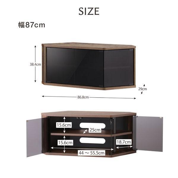 角度調節可能 隠しキャスター付き ハーフコーナーテレビボード Cornerα コーナーアルファ 幅86.8|bookshelf|02