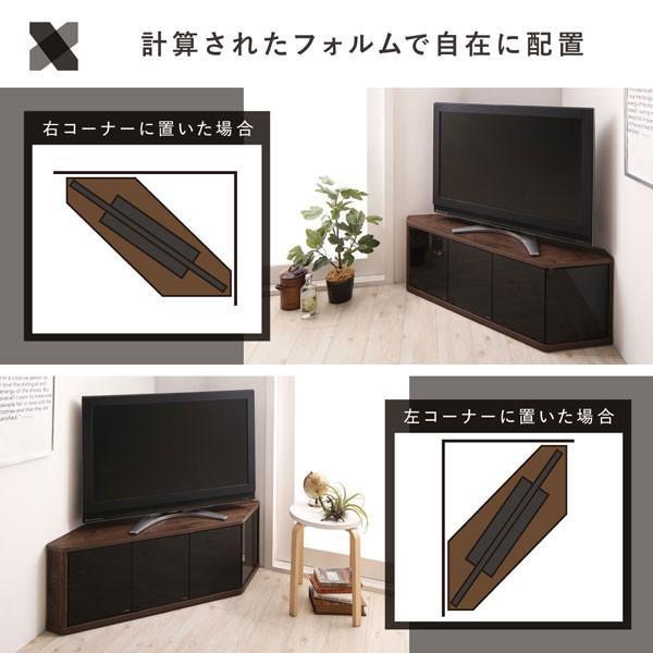 角度調節可能 隠しキャスター付き ハーフコーナーテレビボード Cornerα コーナーアルファ 幅86.8|bookshelf|05