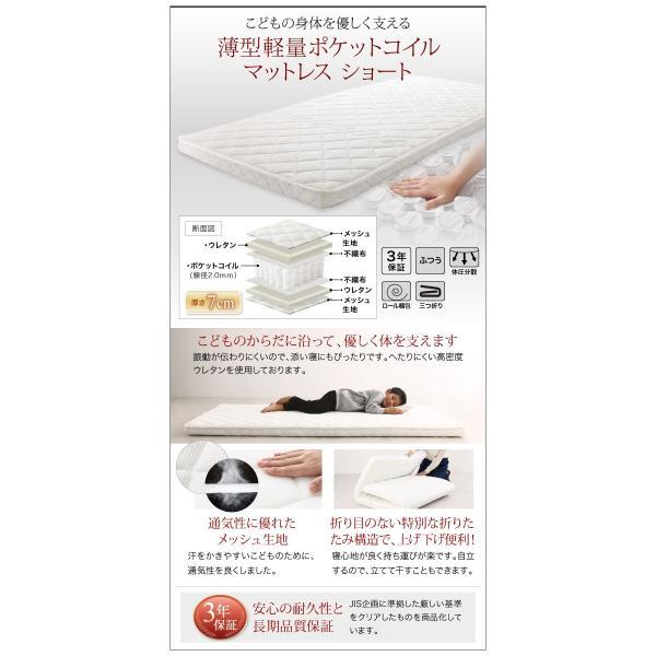 コンパクト 頑丈 2段ベッド minijon ミニジョン シングル ショート丈 薄型軽量ポケットコイルマットレス付き 木製 はしご 天然木 2段ベッド 子供部屋 子供|bookshelf|14
