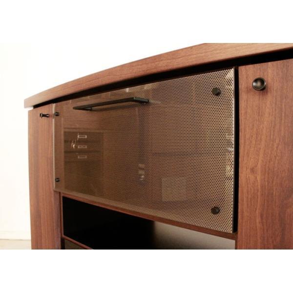 クアトロ 90ミドルコーナー BR ミドルコーナーテレビ台 クアトロ 幅90cm ブラウン 50535230 bookshelf 03